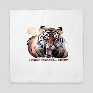 Tiger needs caffeine Queen Duvet