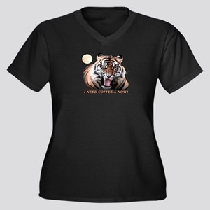 Tiger needs caffeine Plus Size T-Shirt
