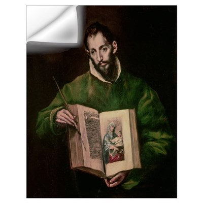 St. Luke (oil on canvas) Wall Decal