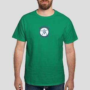 "Wellfleet MA ""Sand Dollar"" Design. Dark T-Shirt"