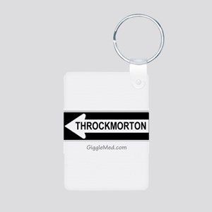 Throckmorton Sign Aluminum Photo Keychain