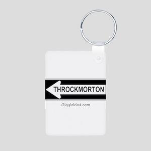 Throckmorton Sign Aluminum Photo Keychain
