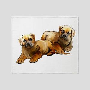 Mastiff puppies Throw Blanket