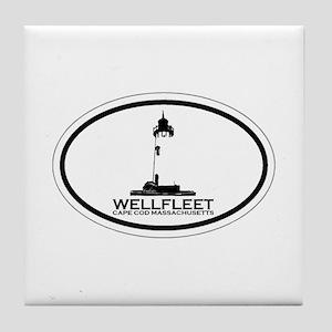 "Wellfleet MA ""Oval"" Design. Tile Coaster"