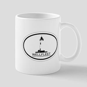 "Wellfleet MA ""Oval"" Design. Mug"