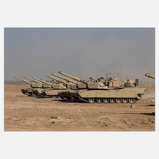 M1 Abrams tanks at Camp Warhorse