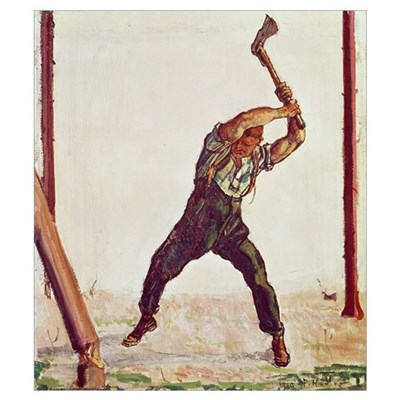 The Woodman, 1910 (oil on canvas) Poster
