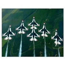 he Thunderbird aerial demonstration team performs  Poster