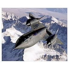 SR71B Blackbird in flight Poster
