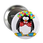 Clown penguin Button