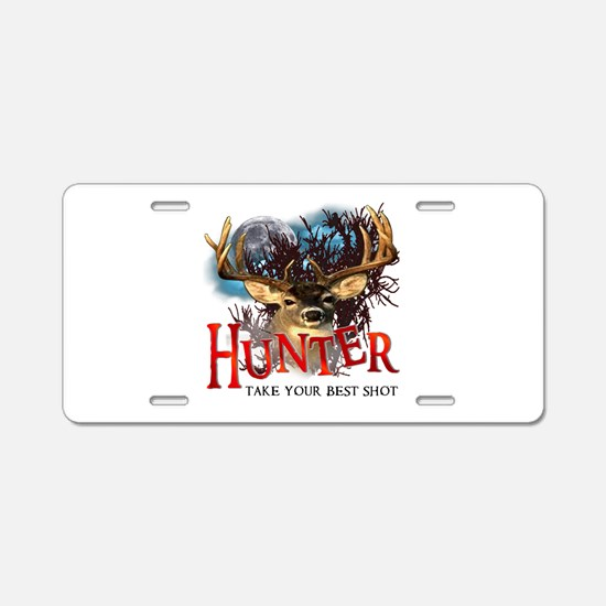 Hunter take your best shot De Aluminum License Pla