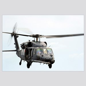An HH60 Pave Hawk helicopter conducts search and r