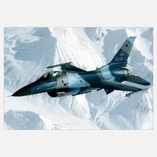 An F16 Aggressor disconnectsfrom a KC10 Extender a