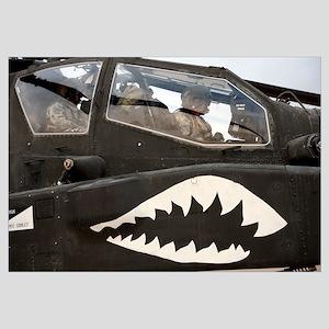 An AH64D Apache Longbow Block III prepares for tak