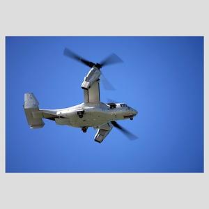 An Osprey tiltrotor aircraft in flight