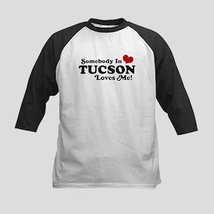 Somebody In Tucson Loves Me Kids Baseball Jersey