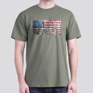 Vintage America Flag Dark T-Shirt