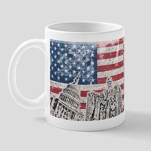 Vintage America Flag Mug