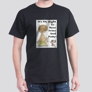 The Right to Bear Arms & Pott Black T-Shirt