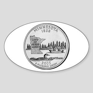 2005 Minnesota State Quarter Oval Sticker