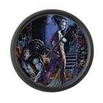 Frankenstein Bride By Brereton Large Wall Clock