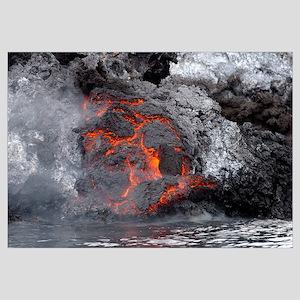 Lava flows from the Yemeni island of Jazirat atTai
