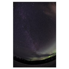 Milky Way and Aurora Poster