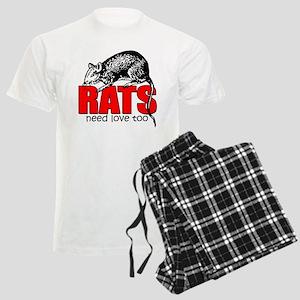 """Rats Need Love Too"" Men's Light Pajamas"