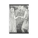 Batten's Swan Maiden Rectangle Magnet