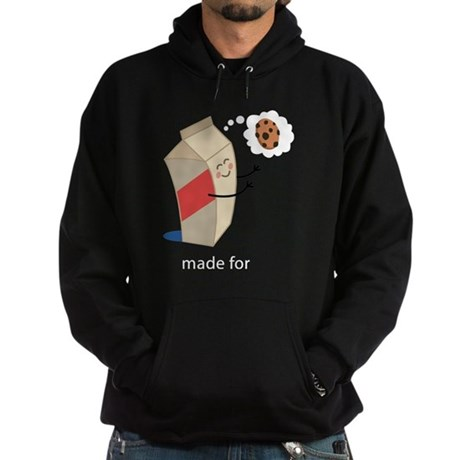 Made For Each Other Cookies and Milk Hoodie (dark)
