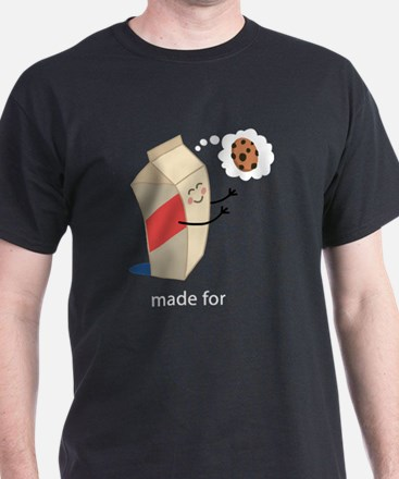 Made For Each Other Cookies and Milk T-Shirt