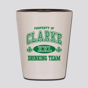 Clarke Irish Drinking Team Shot Glass