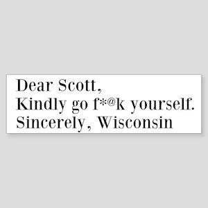 Dear Scott - Sticker (Bumper)