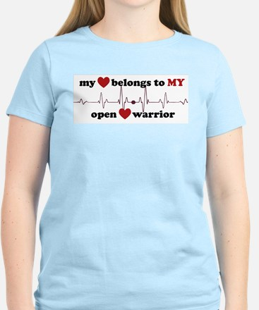 my heart belongs to MY open heart warrior T-Shirt
