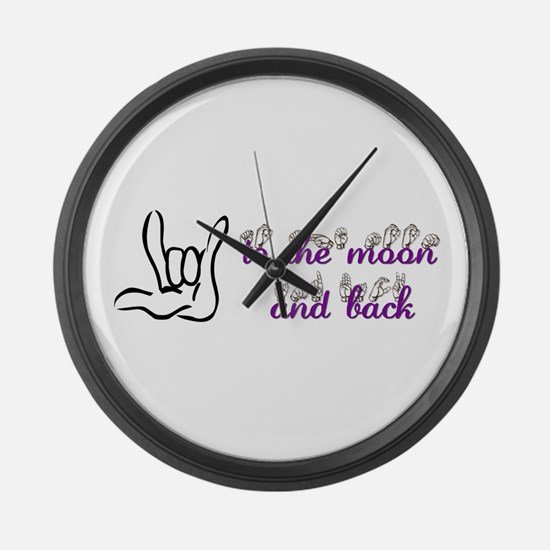 I love you to the moon and back Large Wall Clock