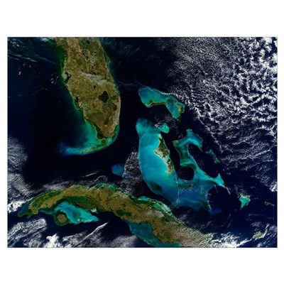 The Bahamas Florida and Cuba Poster