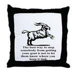 Get your Goat Throw Pillow