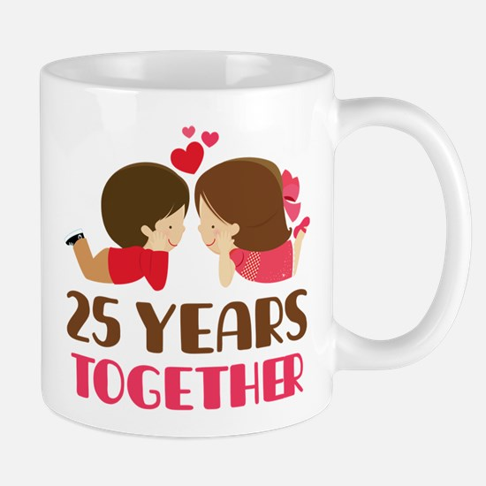 25 Years Together Anniversary Mug Mugs