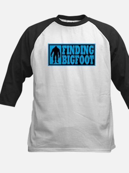 Finding Bigfoot logo Kids Baseball Jersey