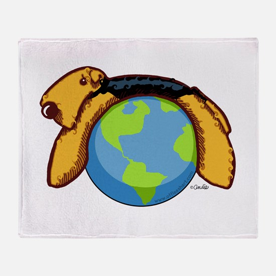 Airedale World Throw Blanket