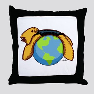 Airedale World Throw Pillow