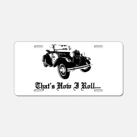 Cute Old car Aluminum License Plate