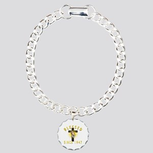 Blessed Since 1947 Charm Bracelet, One Charm
