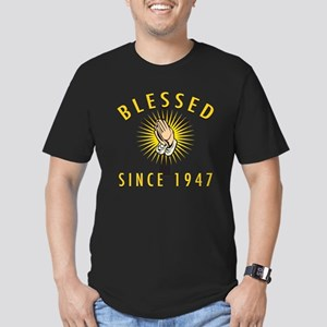 Blessed Since 1947 Men's Fitted T-Shirt (dark)