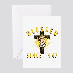 Blessed Since 1947 Greeting Card