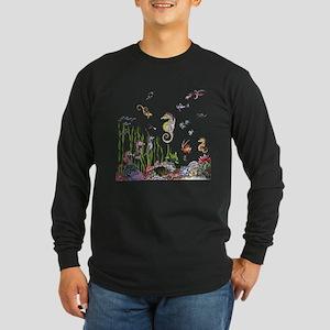 Ocean Life Long Sleeve Dark T-Shirt