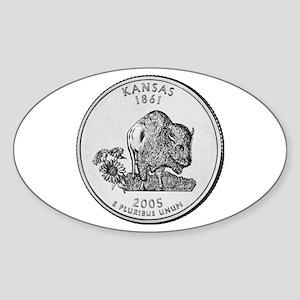 2005 Kansas State Quarter Oval Sticker