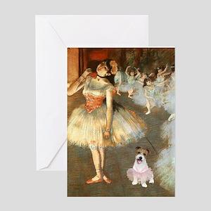BalletClass-JackRussell #11 Greeting Card