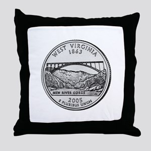 2005 West Virginia State Quar Throw Pillow