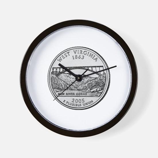 2005 West Virginia State Quar Wall Clock